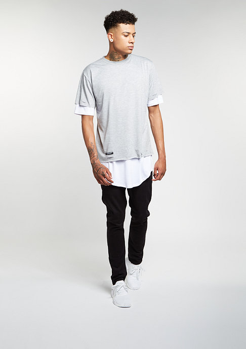 Cayler & Sons C&S BL Tee Deuces Long Layer grey heather/white