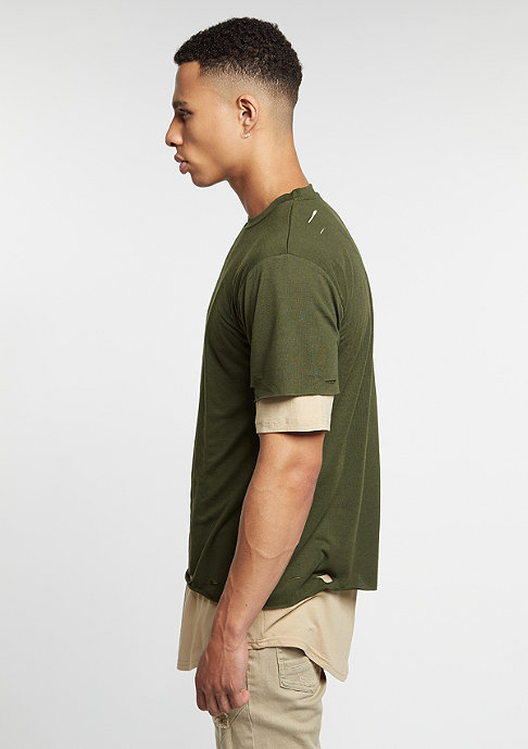 Cayler & Sons C&S BL Tee Deuces Long Layer olive/sand