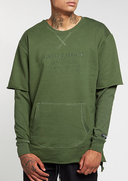 Cayler & Sons Sweatshirt BL Box Cut Off Layer olive/olive