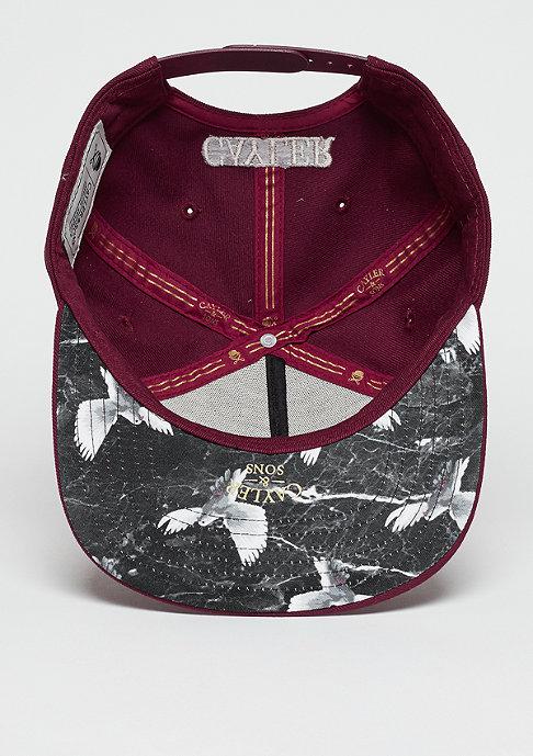 Cayler & Sons Snapback-Cap WL Faith maroon/black