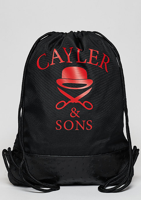 Cayler & Sons Turnbeutel WL Chosen Gymbag black marble / black / red