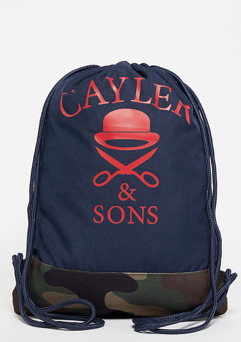 Cayler & Sons C&S WL Not Sorry Gymbag navy/woodland/red/white