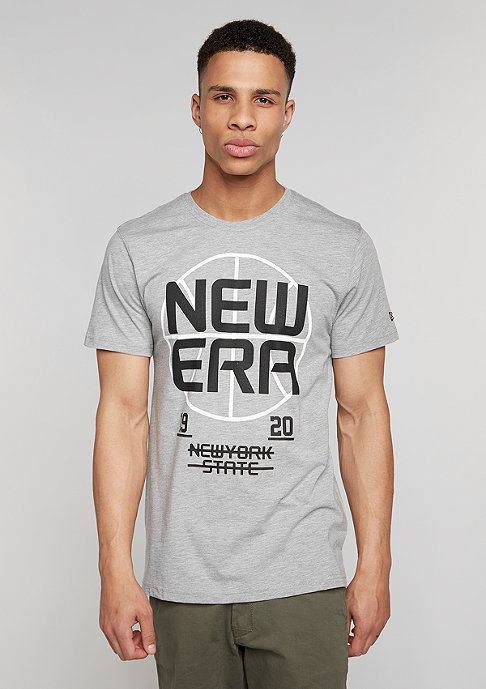 New Era T-Shirt Basket Stack grey