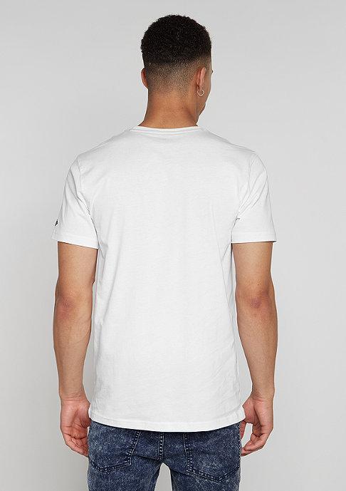 New Era T-Shirt Vert Flag optic white