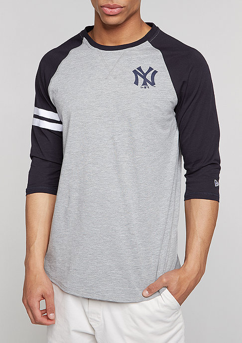 New Era Raglan MLB New York Yankees light grey heather