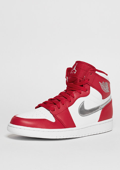 JORDAN Air Jordan 1 Retro High gym red/metallic silver/white