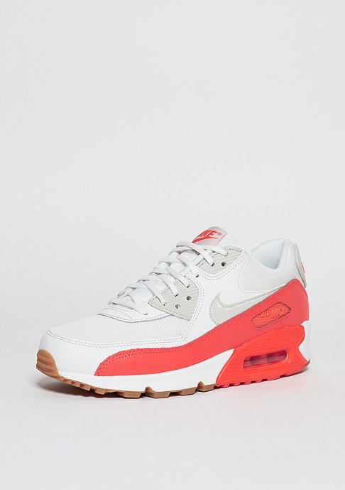 NIKE Schuh Wmns Air Max 90 Essential summit white/light bone/bright crimson