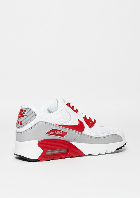 NIKE Schuh Air Max 90 Mesh (GS) white/university red/wolf grey