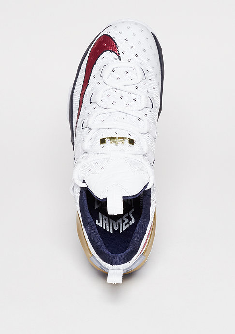 NIKE Le Bron XIII Low white/university red/obsidian