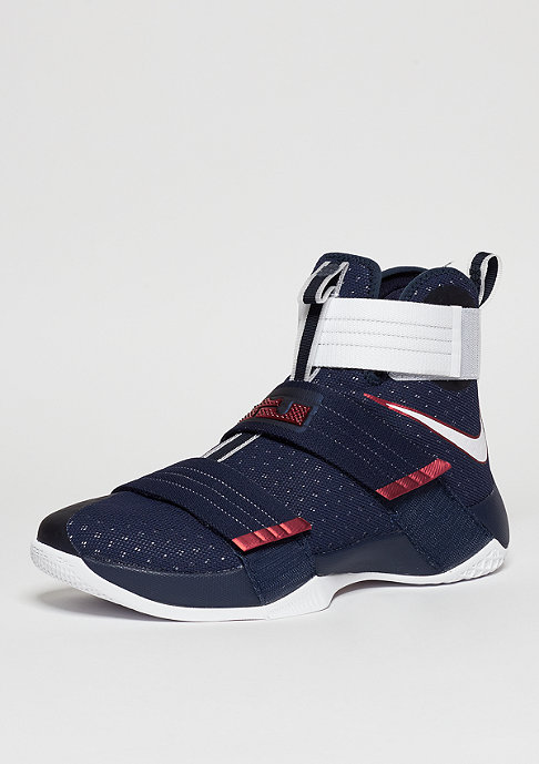 NIKE Lebron Soldier 10 SFG obsidian/white/university red