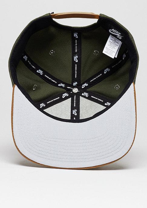 NIKE SB Snapback-Cap Icon cargo khaki/ale brown/black