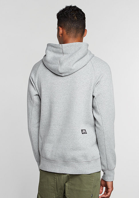 NIKE SB Hooded-Sweatshirt Icon Dots dark grey heather/black