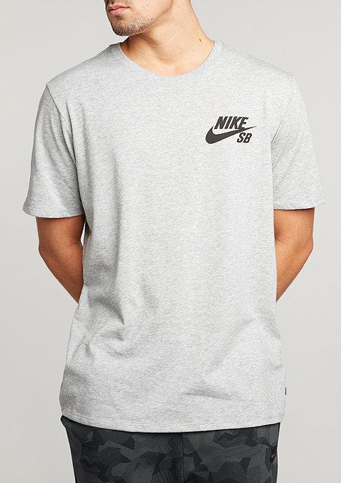 NIKE SB T-Shirt Ripped dark grey heather/dark grey heather/black