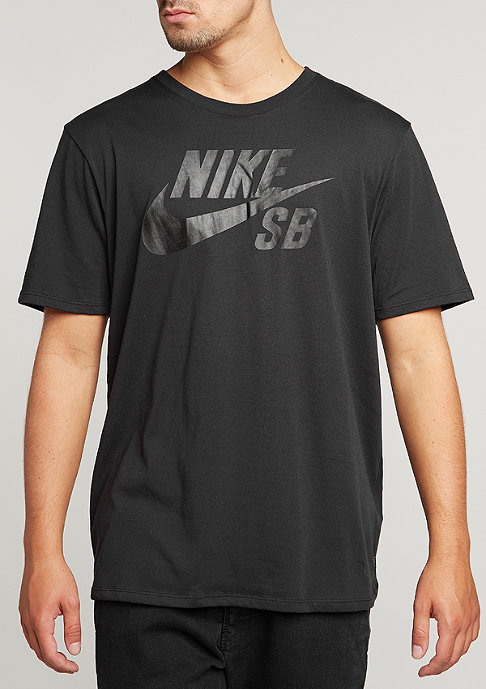 NIKE SB T-Shirt Logo black/cool grey