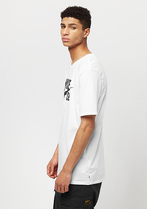 NIKE SB T-Shirt Logo white/white/black