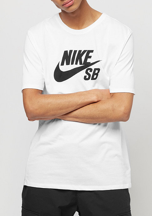 NIKE SB Logo white/white/black