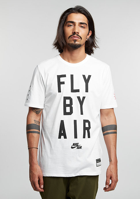 NIKE T-Shirt Air Fly By white/white