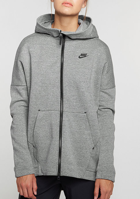 NIKE Tech Fleece Cape carbon heather/carbon heather/black