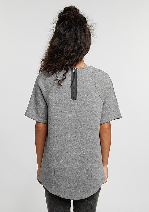NIKE T-Shirt Tech Fleece carbon heather/carbon heather/black
