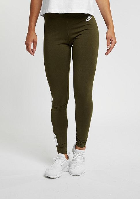 NIKE Legging Leg-A-See Just Do It dark loden/white