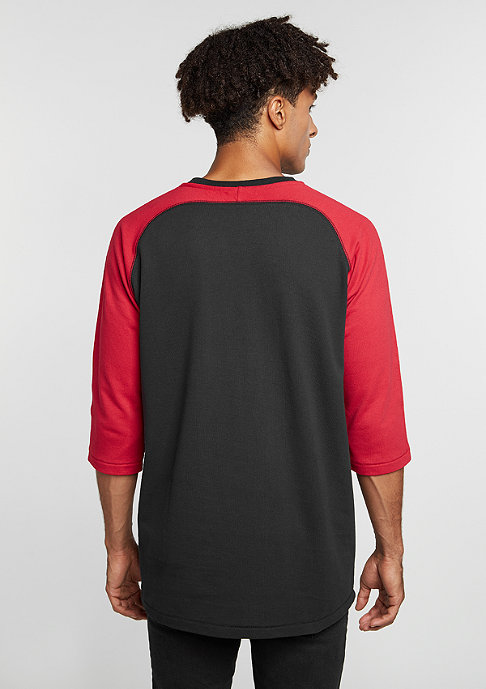 JORDAN T-Shirt True Raglan Three-Quarter black/gym red/gym red