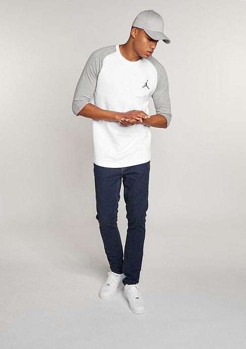JORDAN True Raglan Three-Quarter white/dark grey/cool grey