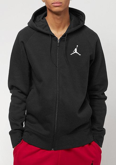 JORDAN Hooded-Zipper Flight Fleece Full-Zip black/white