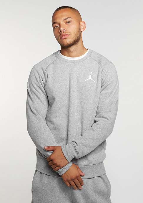 JORDAN Sweatshirt Flight Fleece dark grey heather/white