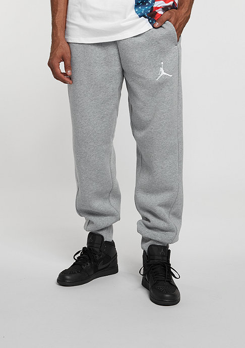 JORDAN Trainingshose Flight Fleece Cuff Pant dark grey heather/white