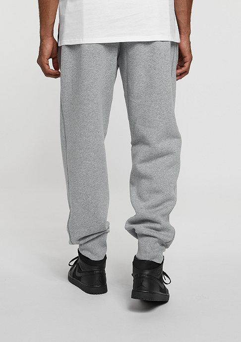 JORDAN Flight Fleece Cuff Pant dark grey heather/white