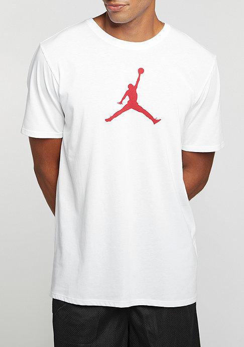 JORDAN T-Shirt Jumpman Dri-FIT white/gym red