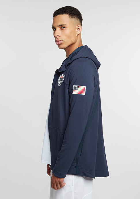NIKE Hooded-Zipper USAB Hyperlite obsidian/white