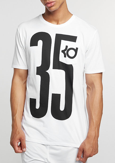 NIKE T-Shirt KD Pocket Jersey white/white