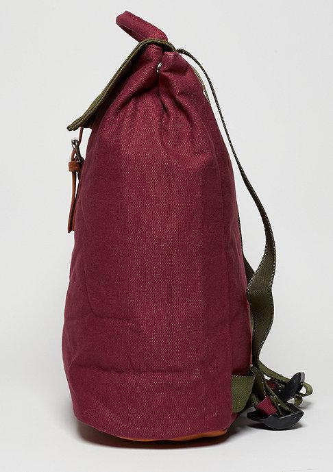 Mi-Pac Rucksack Day Pack Tonal Canvas burgundy/khaki