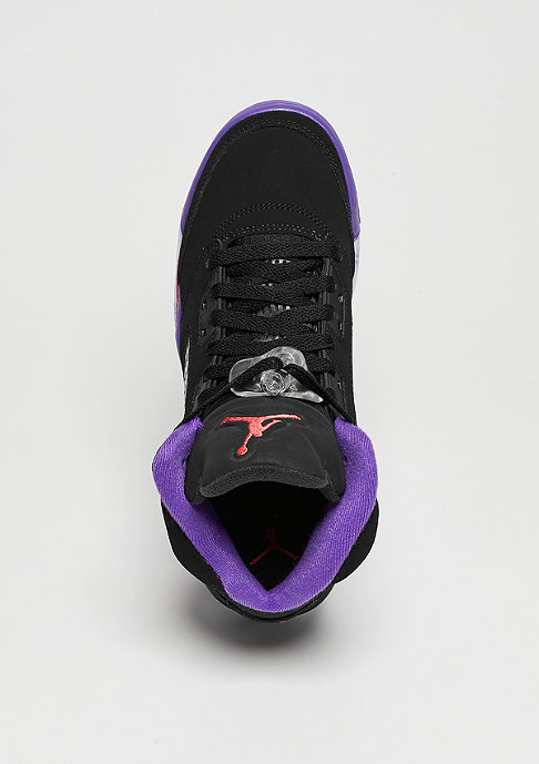 JORDAN Jordan 5 Retro black/ember glow/fierce purple