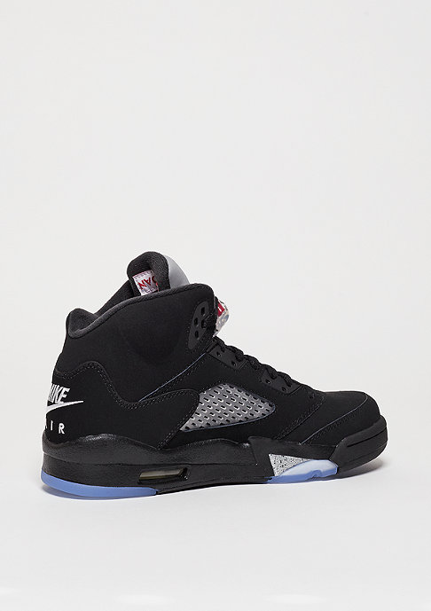 JORDAN Air Jordan 5 Retro black/fire red/metallic silver