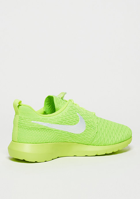 NIKE Roshe Flyknit volt/white/electric green