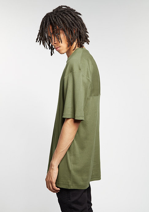 Future Past T-Shirt Oversized Rip olive