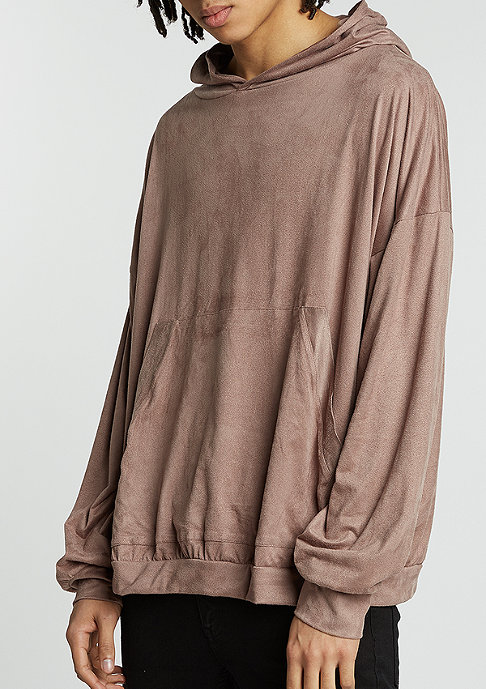 Future Past Hooded-Sweatshirt Velours taupe