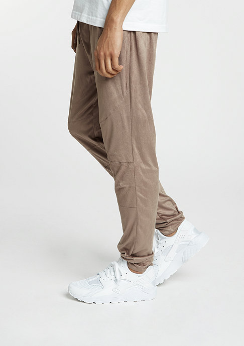 Future Past Trainingsbroek Velours Pants taupe