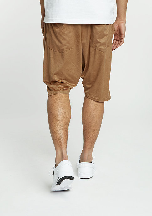 Future Past Velours Shorts camel