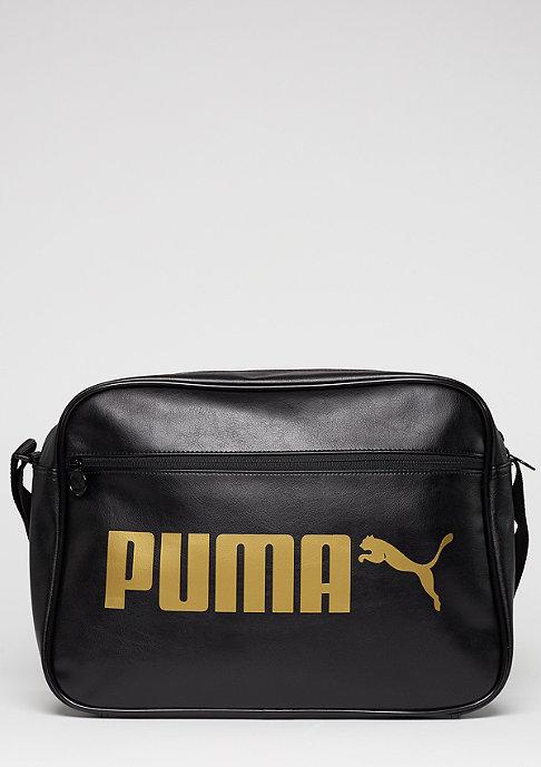 Puma Umhängetasche Campus Reporter puma black/gold