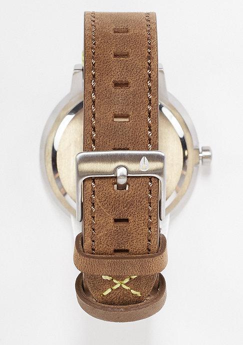 Nixon Kensington Leather brown/lime