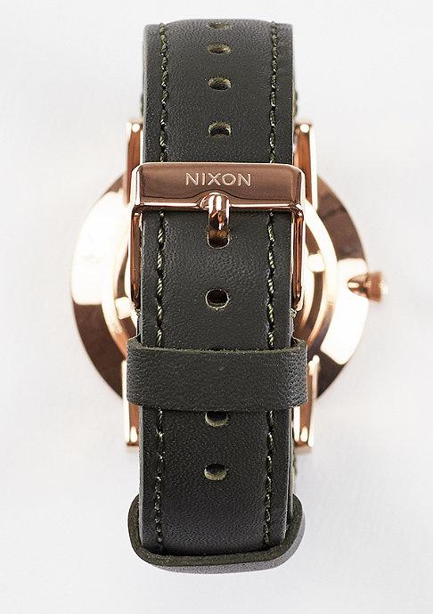 Nixon Porter Leather rose gold/gunmetal/surplus