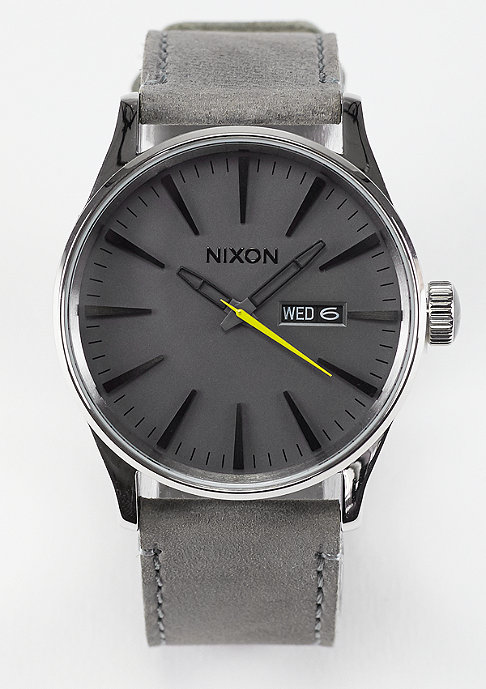 Nixon Sentry Leather charcoal