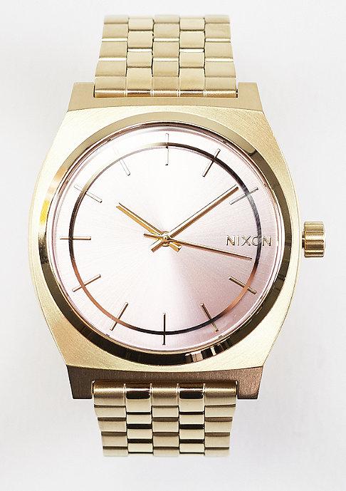 Nixon Time Teller light gold/pink