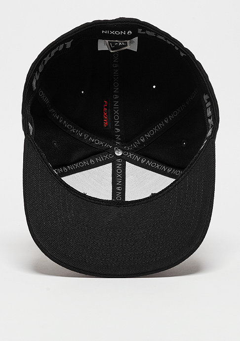 Nixon Baseball-Cap Deep Down FF Athletic Fit Hat all black