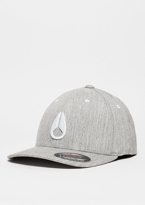 Nixon Baseball-Cap Deep Down FF Athletic Fit Hat heather grey/white