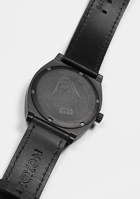 Nixon Time Teller Leather Star Wars Kylo black