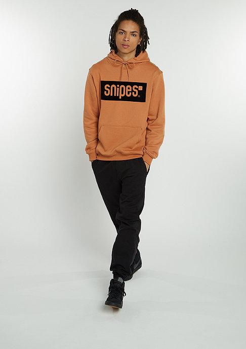 SNIPES Hooded-Sweatshirt Box Logo camel/white